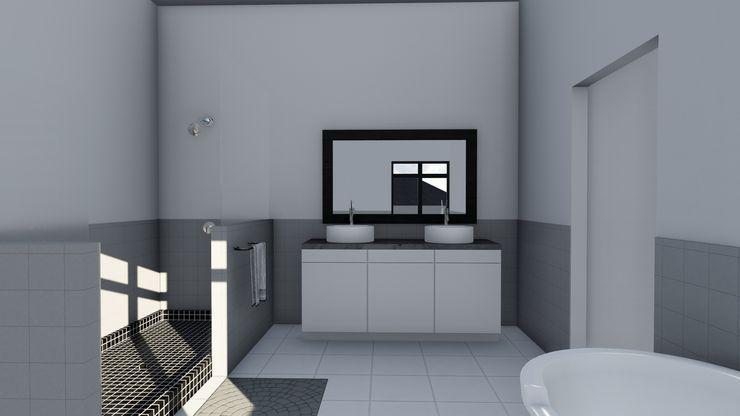 Ellipsis Architecture Baños de estilo moderno