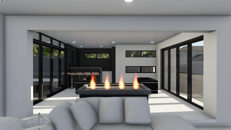 Ellipsis Architecture Salas de estilo moderno