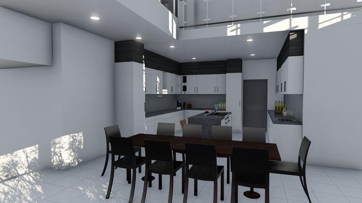Ellipsis Architecture Cocinas de estilo moderno