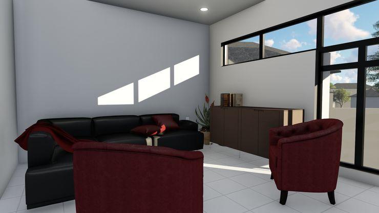 Ellipsis Architecture Pasillos, vestíbulos y escaleras de estilo moderno