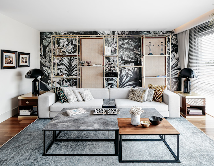 Escapefromsofa Living room Copper/Bronze/Brass Wood effect