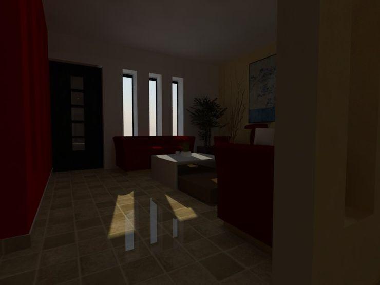MVarquitectos Arq. Irma Mendoza Modern Living Room