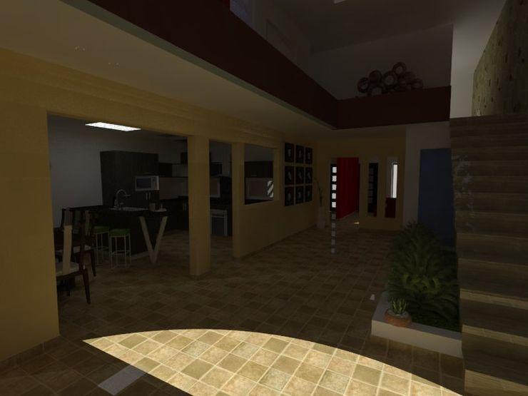 MVarquitectos Arq. Irma Mendoza Modern Corridor, Hallway and Staircase