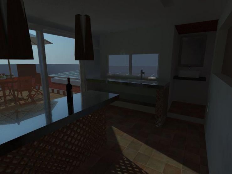 MVarquitectos Arq. Irma Mendoza Modern Kitchen