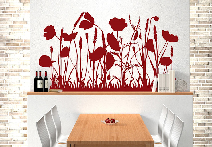 K&L Wall Art Living roomAccessories & decoration Synthetic Red