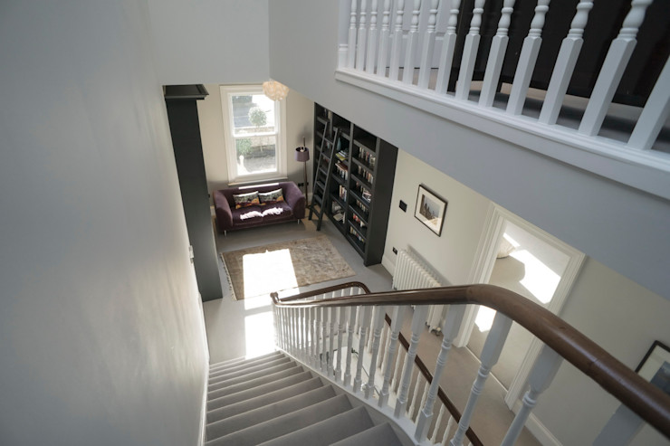 RYDENS ROAD Concept Eight Architects Classic style corridor, hallway and stairs