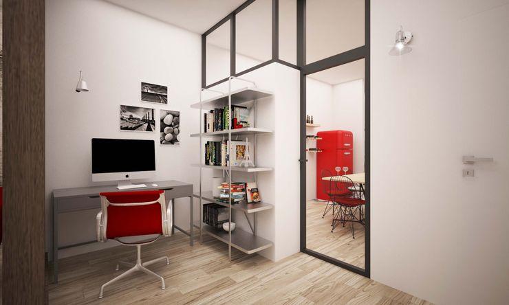 CORSO TORTONA LAB16 architettura&design Ingresso, Corridoio & Scale in stile industriale