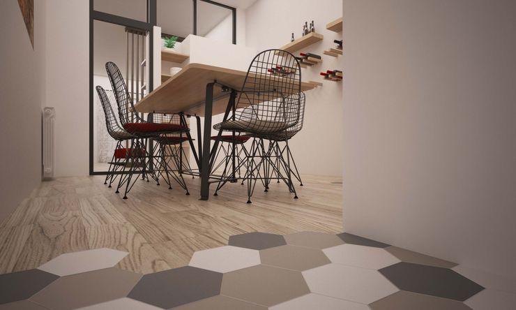 CORSO TORTONA LAB16 architettura&design Cucina in stile industriale