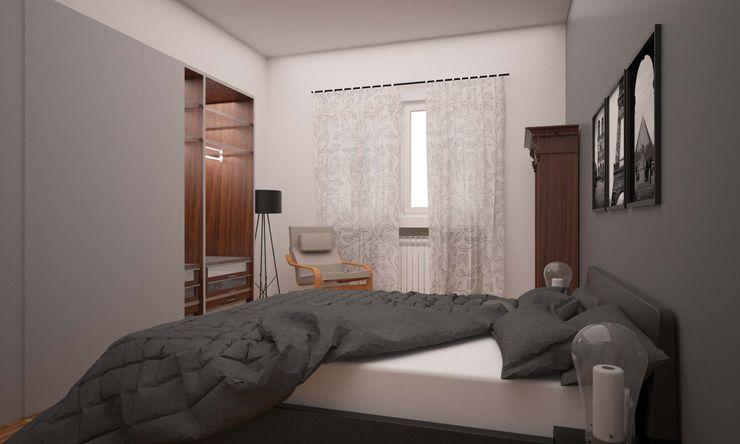 CORSO TORTONA LAB16 architettura&design Camera da letto in stile industriale