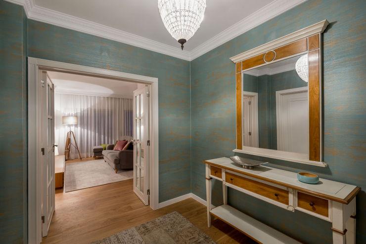 Stoc Casa Interiores Moderner Flur, Diele & Treppenhaus Türkis