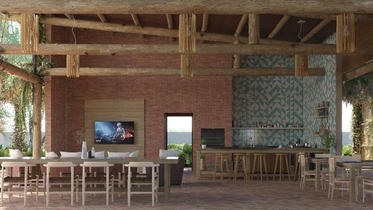 VeMa_Weekend-House studiojordanovalota Cozinhas rústicas Madeira Efeito de madeira