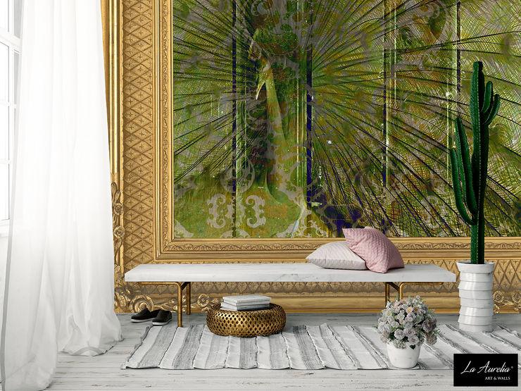 Elegance -Framed- Wallpaper La Aurelia Walls & flooringWallpaper Green