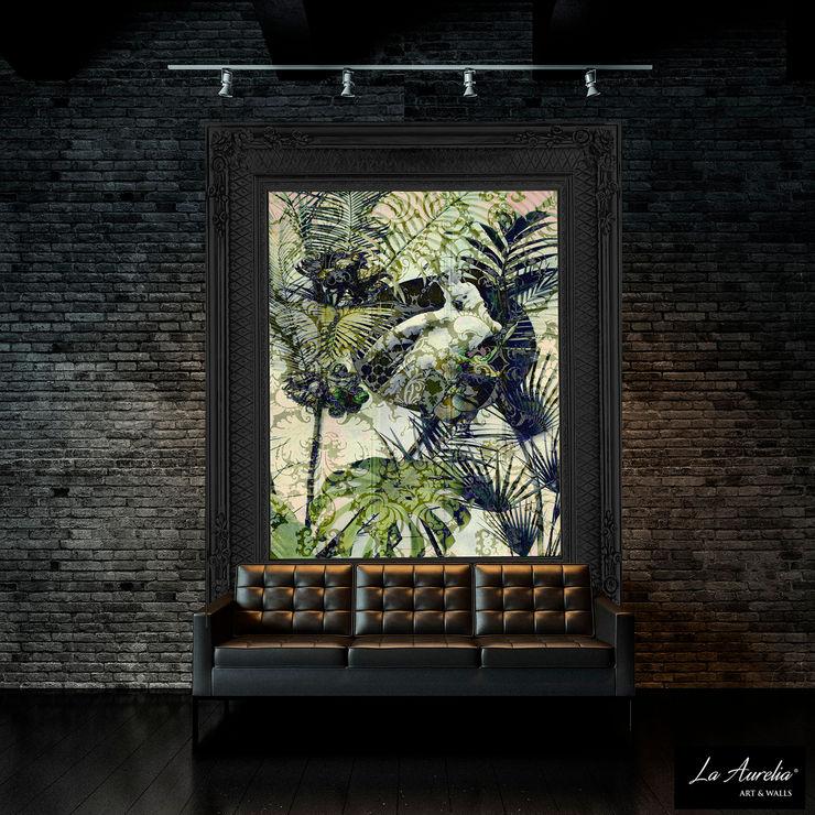 Exotic -Variation Framed- Wallpaper La Aurelia Walls & flooringWallpaper Green