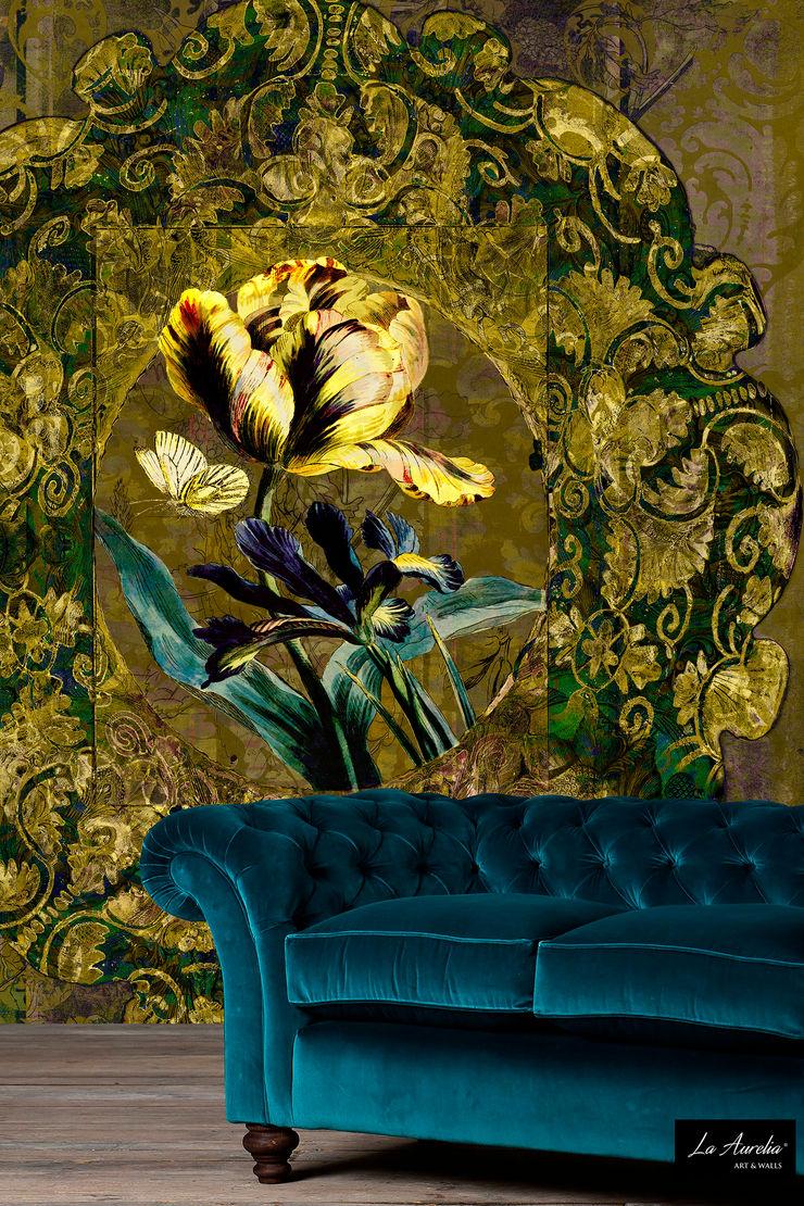 Jardin -Variation- Wallpaper La Aurelia Walls & flooringWallpaper Amber/Gold