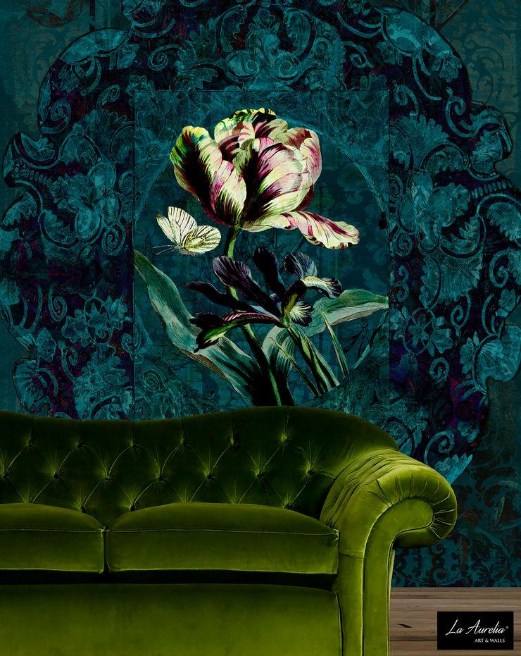 Jardin Wallpaper La Aurelia Walls & flooringWallpaper Turquoise