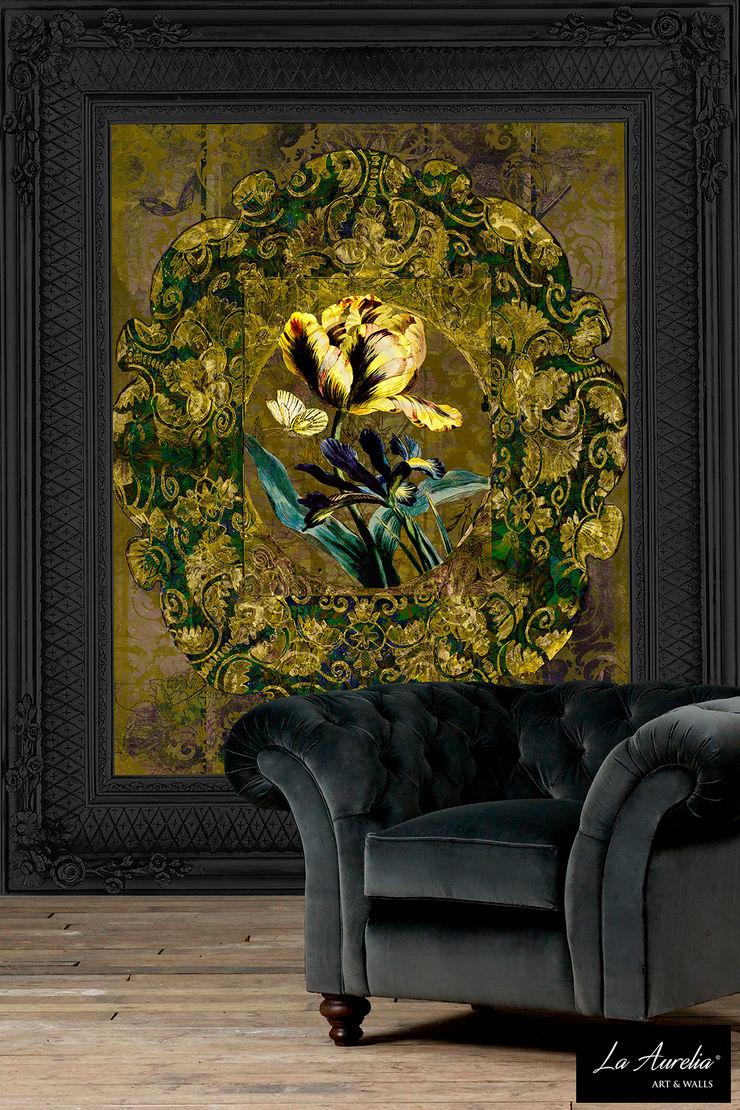 Jardin -Variation Framed- Wallpaper La Aurelia Walls & flooringWallpaper Amber/Gold