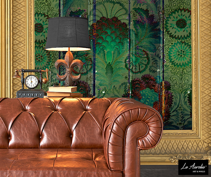 Oasis -Framed- Wallpaper La Aurelia Walls & flooringWallpaper Green