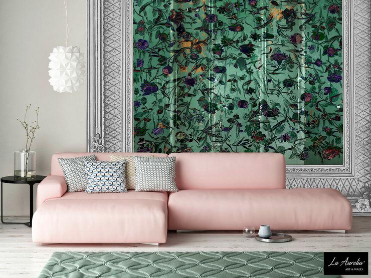 Summer Joy -Variation Framed- Wallpaper La Aurelia Walls & flooringWallpaper Green