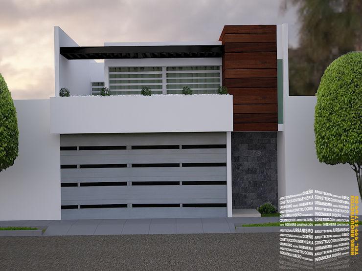 FACHADA CON BALCON homify Casas de estilo minimalista