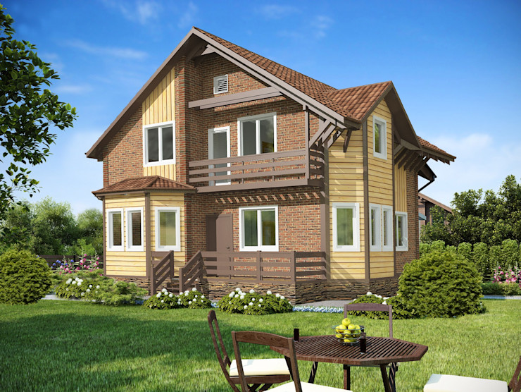 homify Eclectic style houses Wood Brown