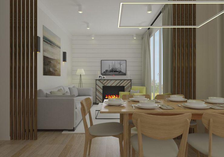 homify Modern living room Bricks White