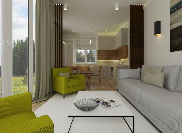 homify Modern living room Engineered Wood Green