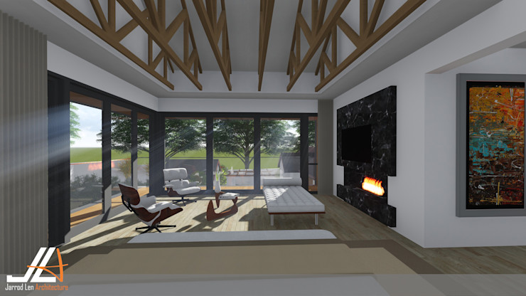 JLA - Jarrod Len Architecture 现代客厅設計點子、靈感 & 圖片