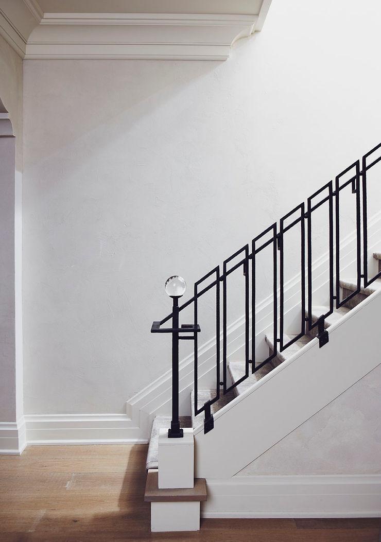 Stair Railing Douglas Design Studio Classic style corridor, hallway and stairs
