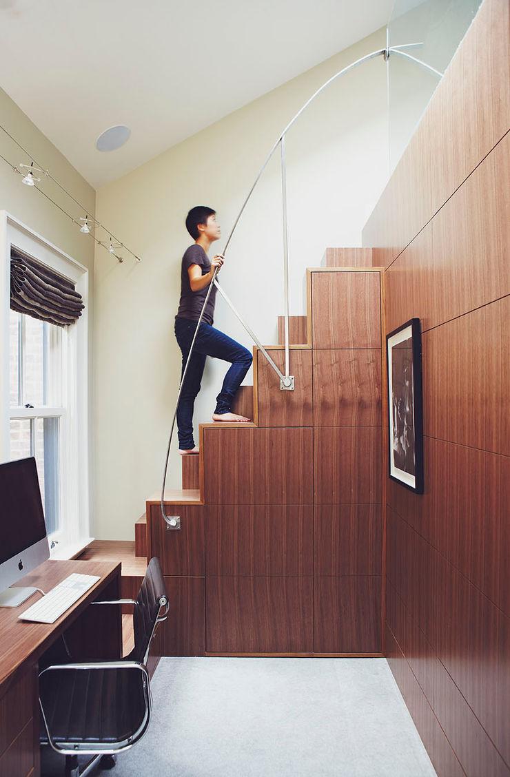 Loft Stair Douglas Design Studio Classic style corridor, hallway and stairs Brown