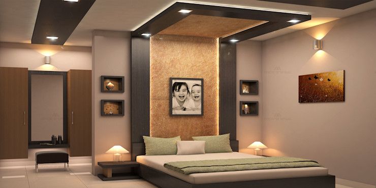 Monnaie Architects & Interiors Modern style bedroom