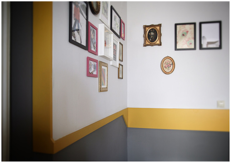 FPAA / Fiori Pietrapiana Architetti Associati Paredes y suelos de estilo moderno Derivados de madera Amarillo