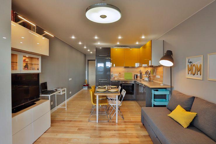 Студия дизайна Дмитрия Артемьева 'Prosto Design' Living room Grey