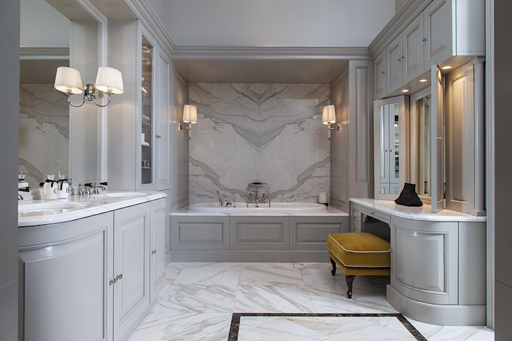 Bespoke design from the Bath Couture service Devon&Devon UK Classic style bathroom Marble Grey