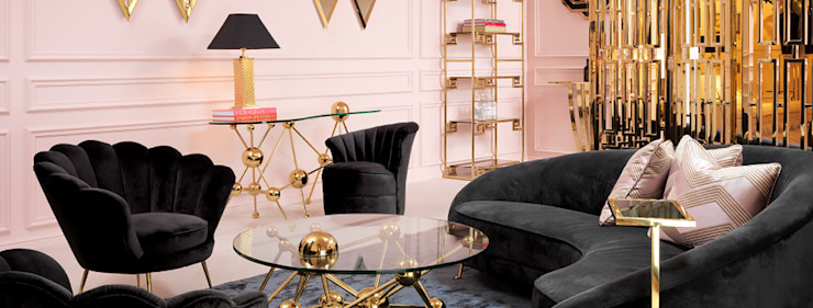 Conexo. Modern Living Room Metal Red