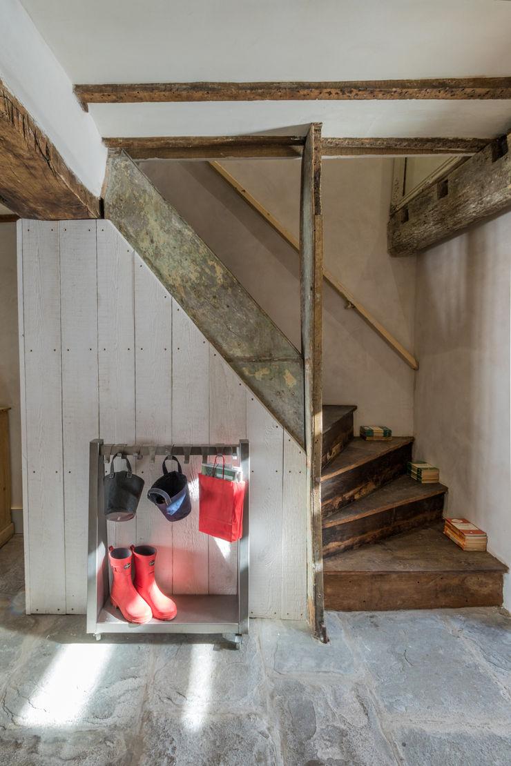 Miner's Cottage II design storey Rustic style corridor, hallway & stairs