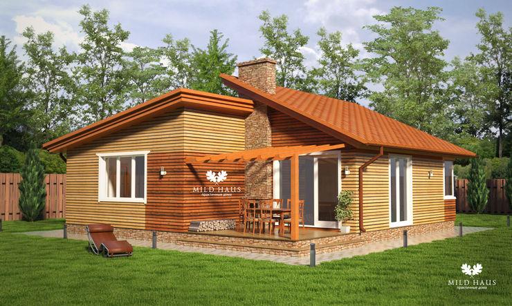 Mild Haus Casas de estilo escandinavo Derivados de madera Acabado en madera