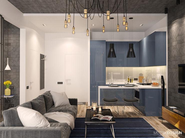 metrixdesign Ruang Keluarga Gaya Industrial