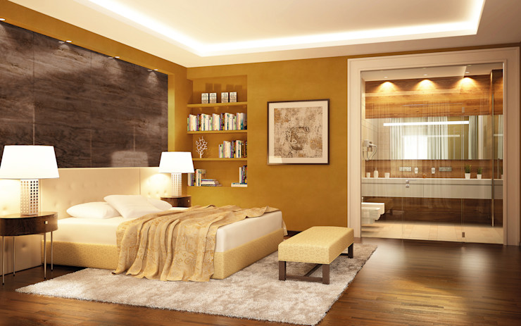 Kalkputz für alle Innenflächen Paul Jaeger GmbH & Co. KG Mediterrane Schlafzimmer