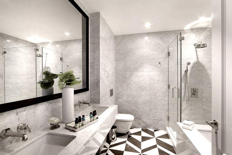 Joe Ginsberg Design Baños modernos Blanco