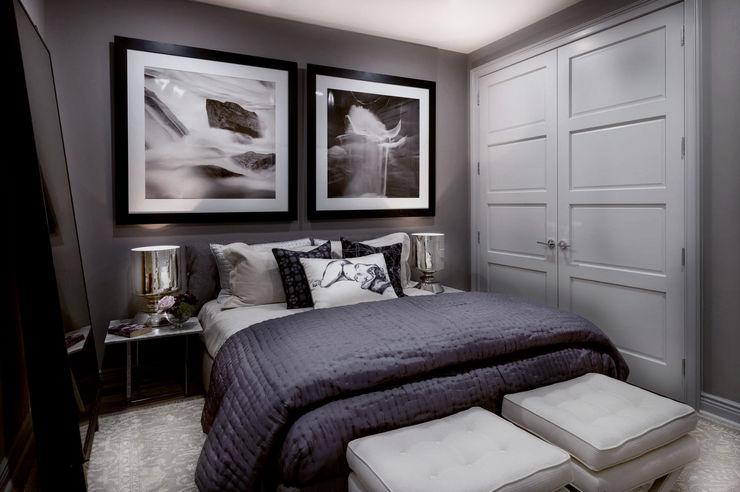 Bedroom - The Pearl Joe Ginsberg Design Modern style bedroom Grey