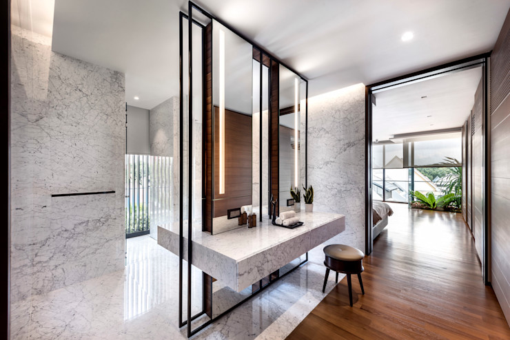 ming architects Baños de estilo moderno