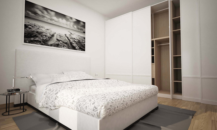 BILOCALE SANTO STEFANO LAB16 architettura&design Camera da letto minimalista