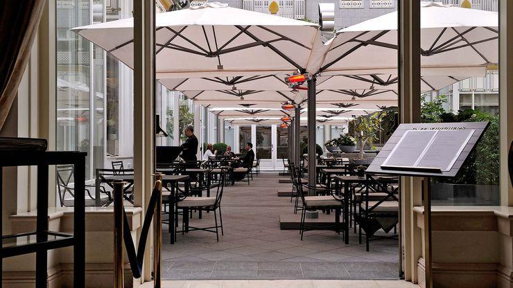 Solero Parasols Restaurantes Aluminio/Cinc Blanco