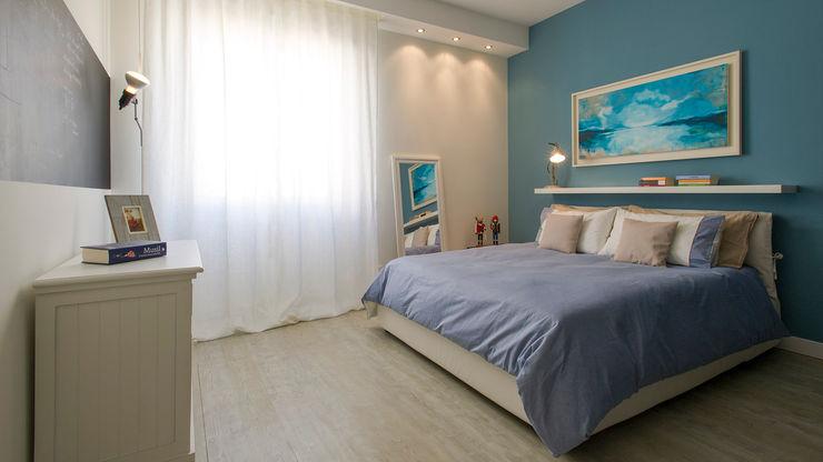 Appartamento al Gazometro Archifacturing Camera da letto moderna Turchese