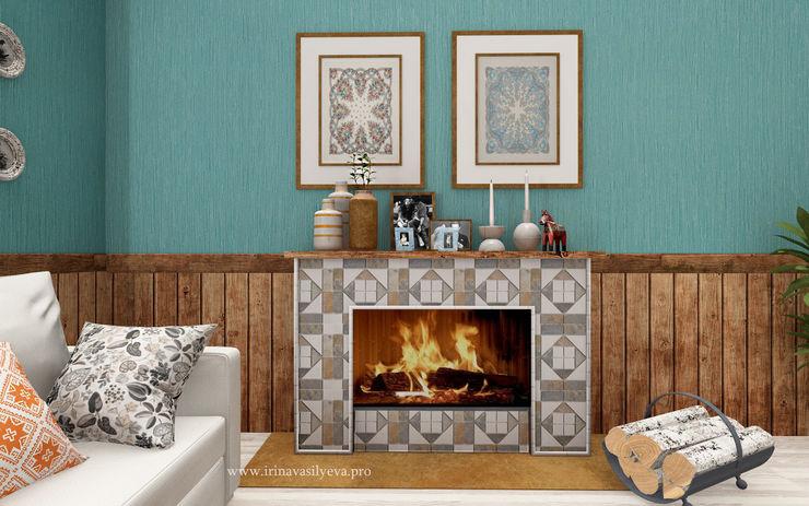Irina Vasilyeva Living room Turquoise