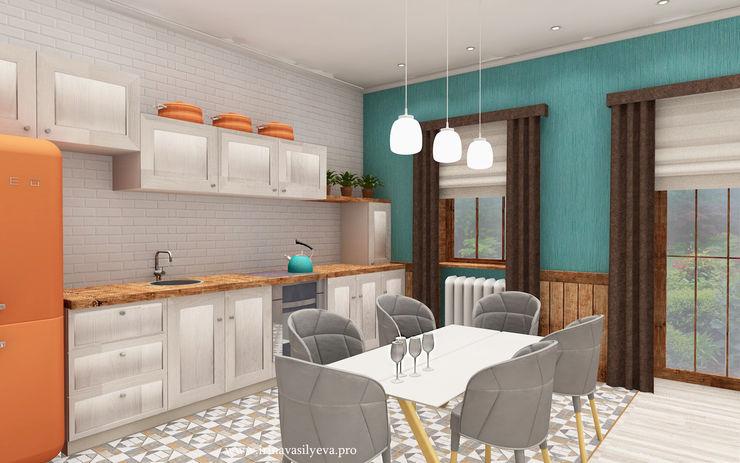 Irina Vasilyeva Kitchen Turquoise