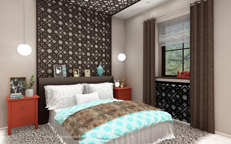 Irina Vasilyeva Eclectic style bedroom Beige