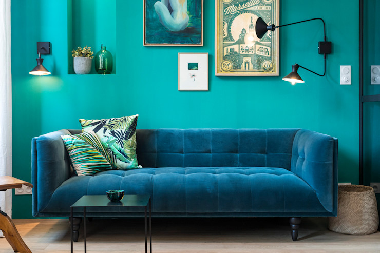 Insides Living room Blue