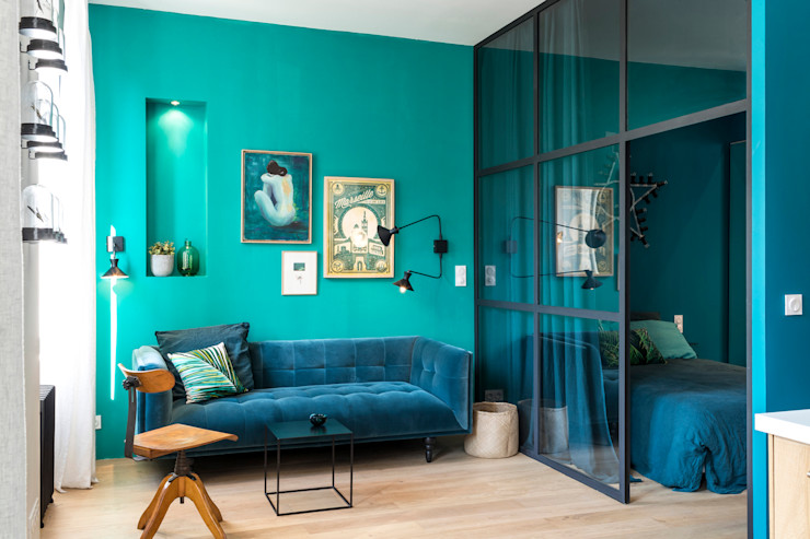 Insides Eclectic style living room Turquoise