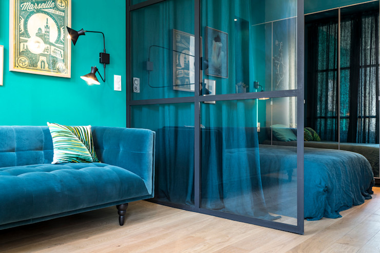 Insides Eclectic style living room Metal Blue
